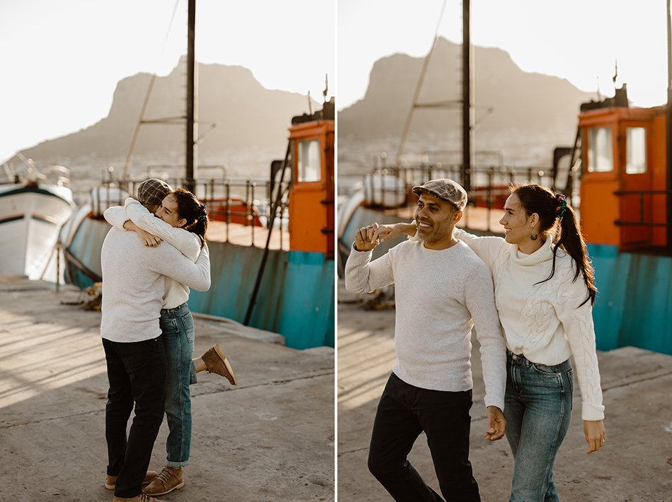 Oceanside engagement session - chapmens peak, Hout bay - Cape town engagement photos - karim & marelize (1)