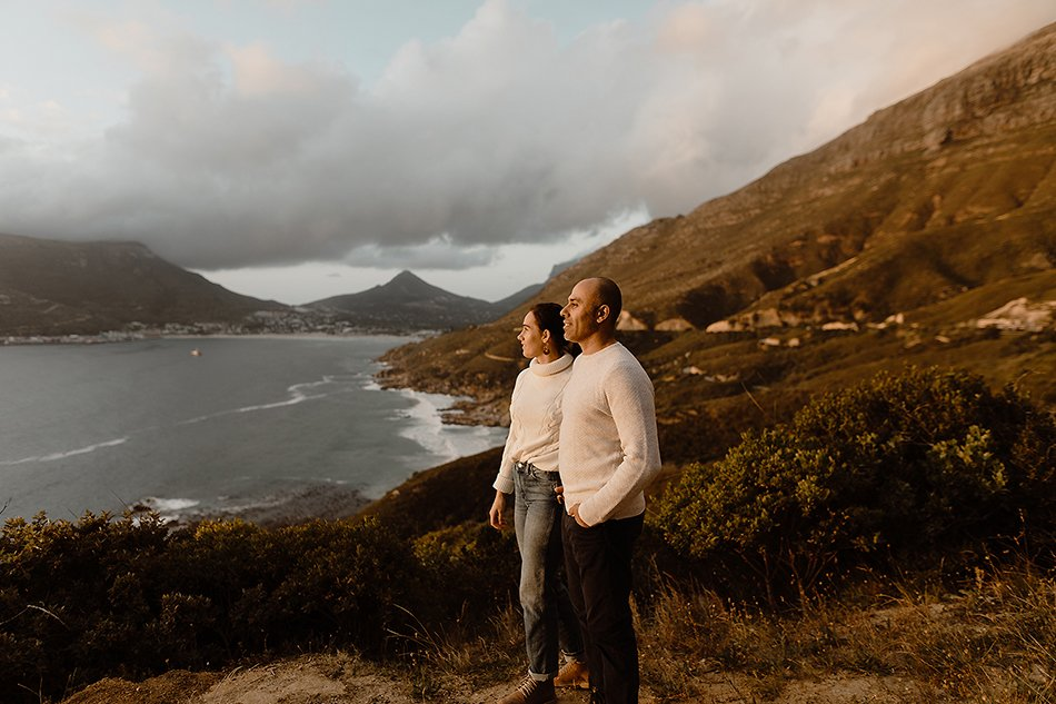 Oceanside engagement session - chapmens peak, Hout bay - Cape town engagement photos - karim & marelize (4)