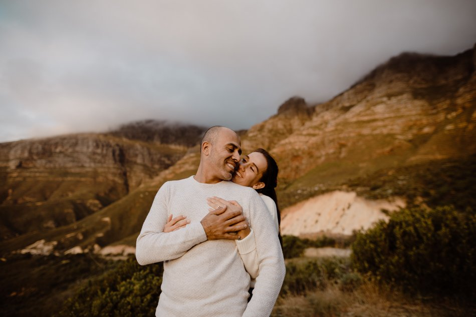 Oceanside engagement session - chapmens peak, Hout bay - Cape town engagement photos - karim & marelize_-2